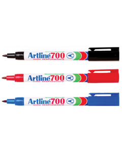 Artline 700 Permanent Marker Black Pk12