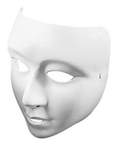 Masks White Plastic - Full Face Pk 10