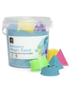 Sensory Magic Sand 600gm Tub Blue with Moulds
