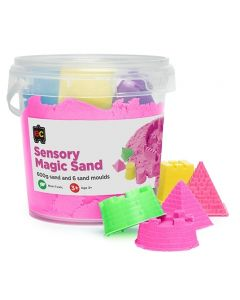 Sensory Magic Sand 600gm Tub Pink with Moulds
