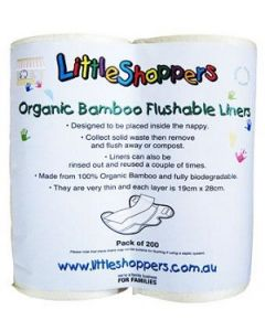 Luvme Nappy Liners Flushable Bamboo Ctn 3200