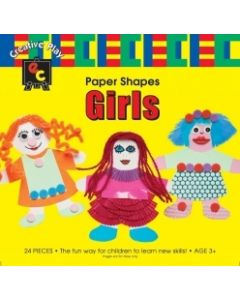 Paper Shapes Cutouts - Girl 24pce