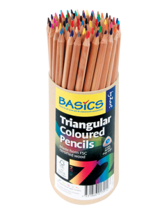 Basic Colour Pencils Natural Triangular Pk72