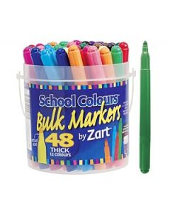 School Colours Thick Markers 48's