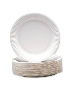"Paper Plates Uncoated 230mm/9"" Bulk500"