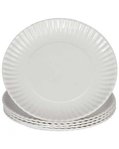 Paper Plates Uncoated 23cm Pk50