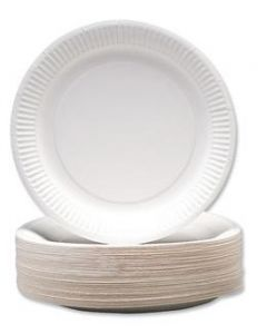 Paper Plates Uncoated 17.5cm Pk50