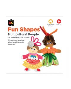 Paper Shapes Multicultural Person Pk 24