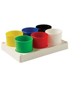 Paint Tray with 6 Col Pots