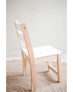 White Seat Stacking Chair