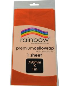Cellophane Biodegradable Orange Sheet
