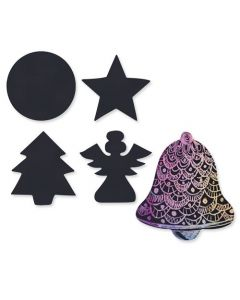 Scratch Christmas Shapes Pack of 30