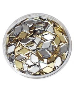Sequins in a Jar- Diamonds Gold/Silver 50g
