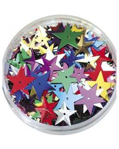 Sequins in Jar- Stars 50g