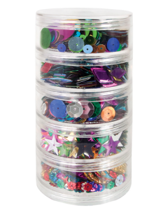 Sequins Stackable Asst 100g