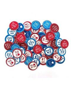 Foam Stickers Dad Badge Pack of 54