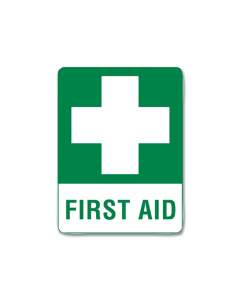 First Aid Sign 30 x 22.5 Poly
