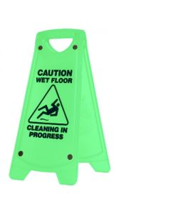 Sign Caution Cleaning Non Slip A-Frame Green