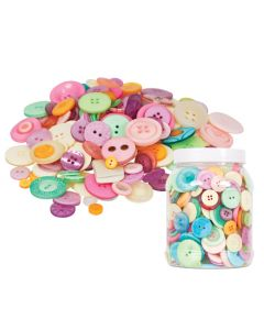 Buttons Bucket Pastel 600g
