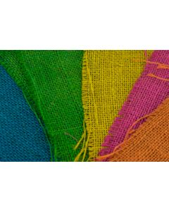 Hessian Squares Multi Coloured Pack of 10