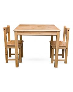 Wooden Table and Chairs Set Square