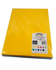 Spectrum Board Assorted 220gsm A3 Pack of 100