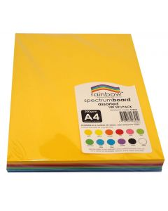 Spectrum Board Assorted 220gsm A4 Pack of 100