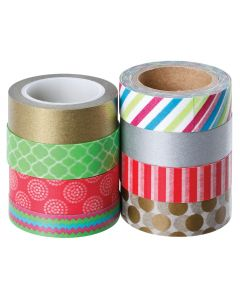 Tape Washi Christmas Pack of 8