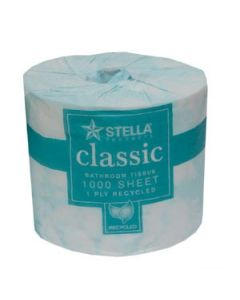 Toilet Paper Recycled 1000 sheet Stella Ctn 48