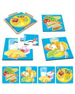 Daily Food Puzzles Set of 4