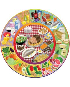 Healthy Eating Circle Puzzle 35pc