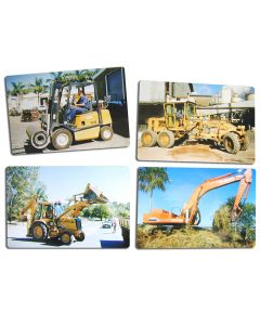 Heavy Machinery Photographic Puzzles Set of 4