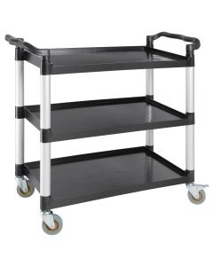 Polypropylene Mobile Trolleys Large Black