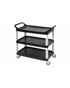 Utility Cart Edco 3 Shelf Black