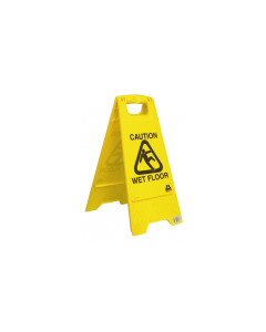 Sign Wet Floor Caution A Frame Yellow
