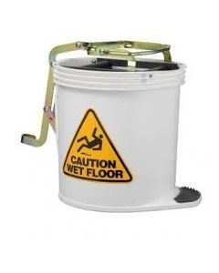 Mop Bucket Roller Plastic with castors 16 Litres - White