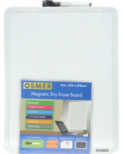 Whiteboard Osmer Magnetic 355 x 280mm with pen