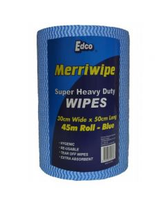Heavy Duty Wipes Roll 45m Perforated 50x30cm Blue