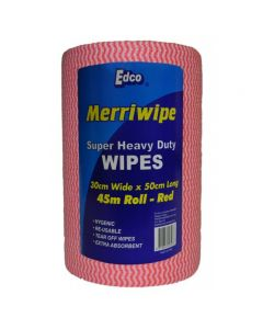 Heavy Duty Wipes Roll 45m Perforated 50x30cm Red