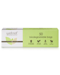 WOTNOT Biodegradable Nappy Bags 100%  - Compostable Pk50***OUT OF STOCK***