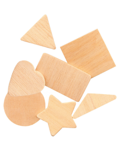 Wooden Shapes Geometrical Natural Pk117